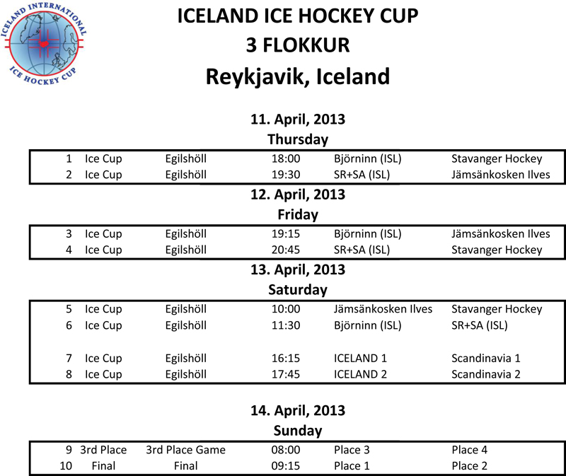 IceCup 04 schedule