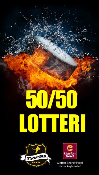 50-50 Lotteri banner egen