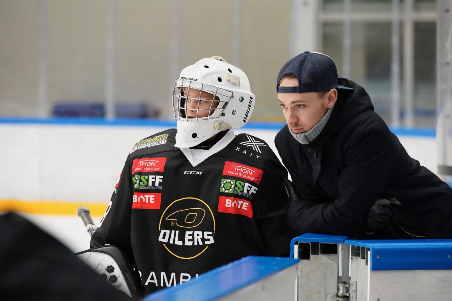 Goalie Trener Oilers Sponsor Thon SFF BATE Gameon Stavanger Hockey